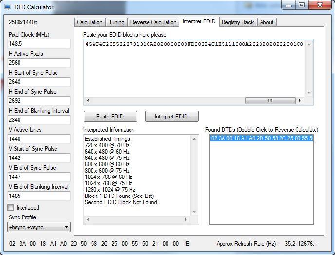 DTD Calculator - Werte übernehmen